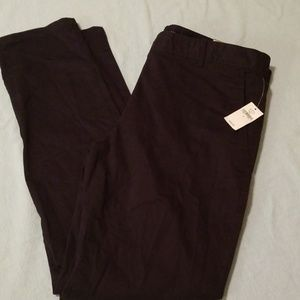 Gap skinny mini black pants 6 new